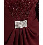 Платье женское приталенного силуэта-бордо, фото 2