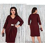 Платье женское приталенного силуэта-бордо, фото 4