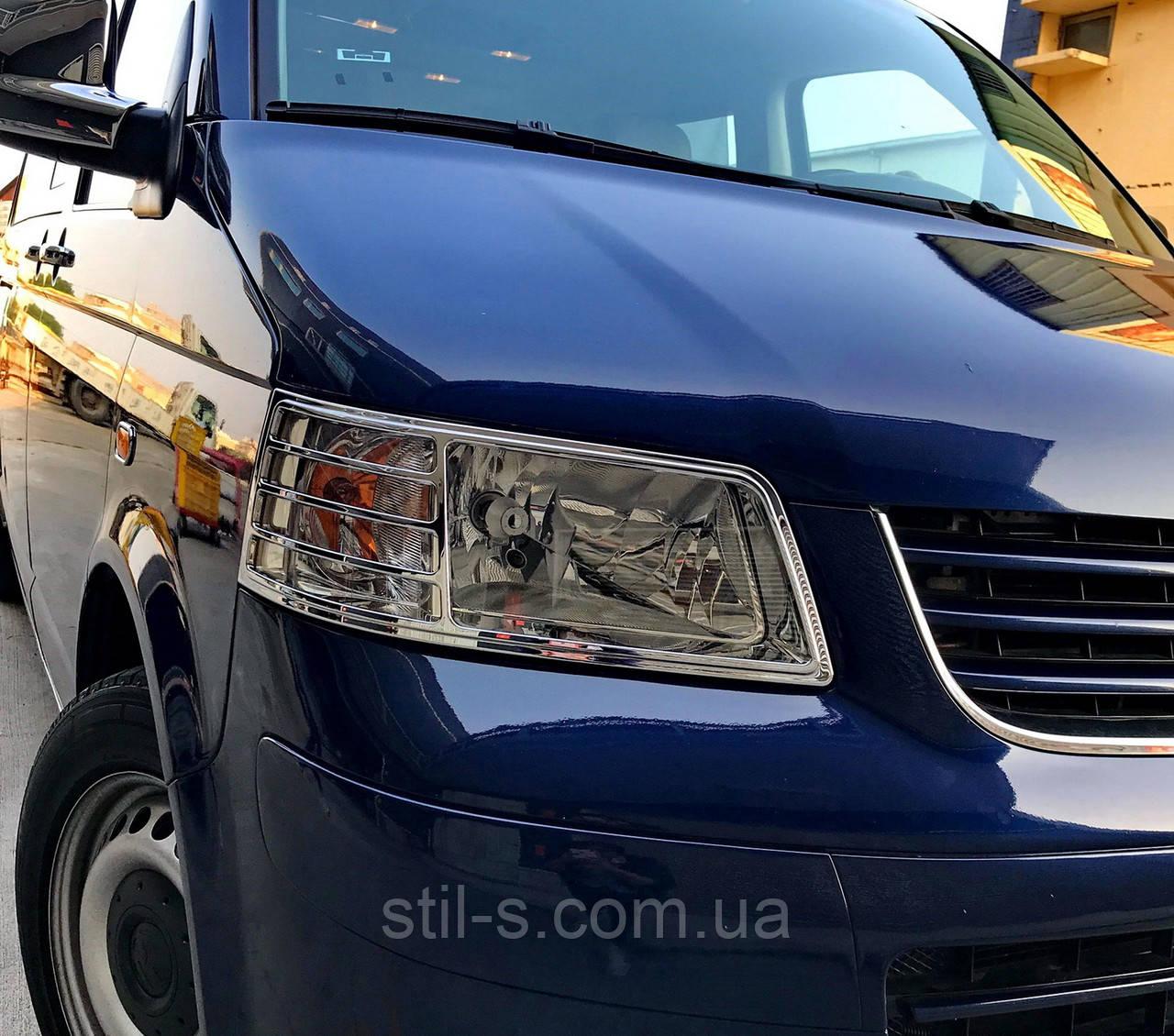 Окантовка фар VW T5 (2003-2010)