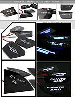 LED-вставки під ручки дверей - Hyundai Elantra HD BRICX)