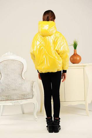 """Дитяча демісезонна куртка для дівчинки Селену, рукав """"летюча миша"""", розміри 134-158, фото 2"""