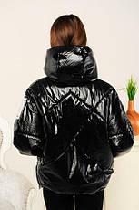 """Дитяча демісезонна куртка для дівчинки Селену, рукав """"летюча миша"""", розміри 134-158, фото 3"""