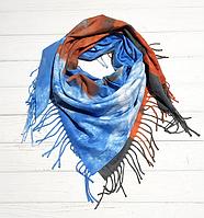 Платок Сания 100*105 см, голубой