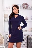 Модное короткое платье с чокером арт 1102