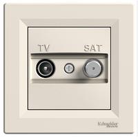 Телевизионная розетка TV/SAT 1дБ крем концевая Asfora  EPH3400123, фото 1