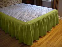 Подзор для кровати Складки Модель 4 Салатовый, фото 1