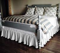 Подзор на кровать Рюши Модель 2 Белый, фото 1