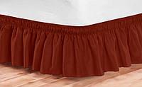 Подзор на кровать Рюши Модель 9 Винный