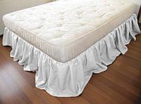 Підзор на ліжко Рюші Модель 4 Білий, фото 1