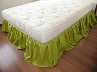 Підзор на ліжко Рюші Модель 4 Салатовий, фото 1