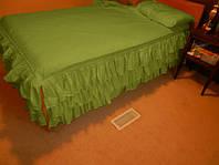 Простынь цельная с юбкой Модель 3 Салатовая, фото 1