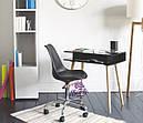 Кресло на колесах Астер, мягкая подушка, цвет черный, фото 5