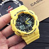 Casio G-Shock GA-100 Yellow-Black, фото 4