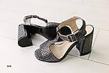 Женские замшевые босоножки на удобном каблуке, фото 5