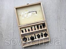 Набор фрез к фрезеру  Euro Craft RS015  15 шт, фото 3