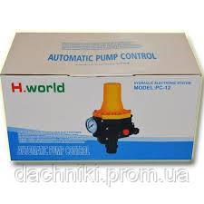 Автоматика для насосов с защитой от сухого хода пресс контроль PC-12 H.World, фото 2