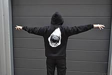 Мужская кофта - Худи Shark - акула, черная, фото 3