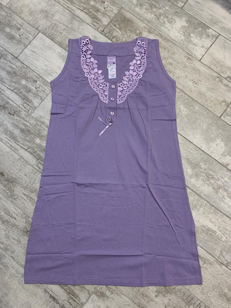 Ночные рубашки VIOLET однотонная