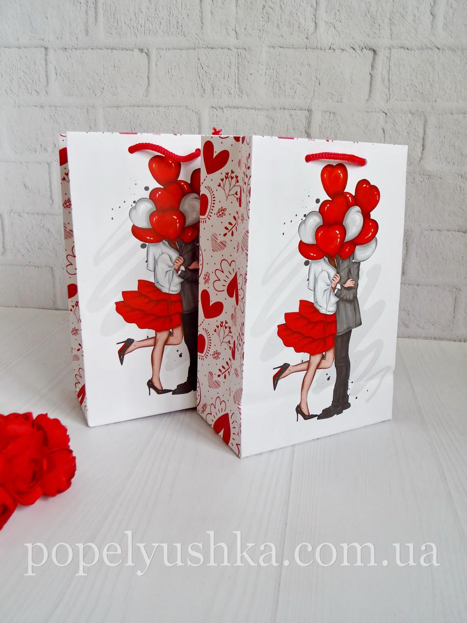 """Пакет подарочный """"Валентинка"""" 23 * 15 * 8 см"""