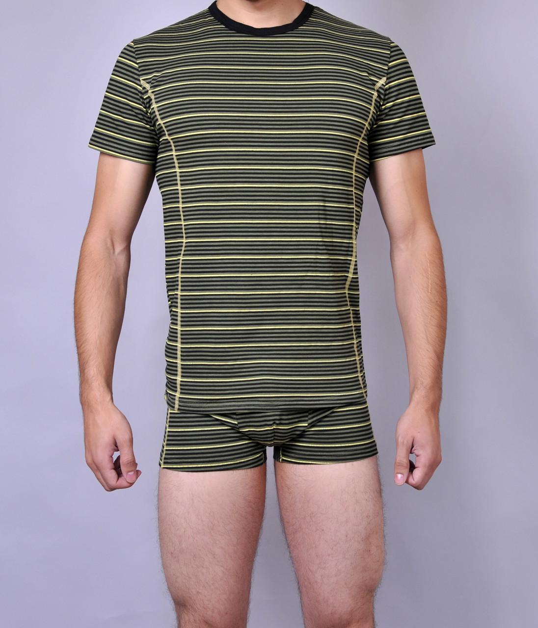 Мужская футболка  C+3 0115 L Зеленый