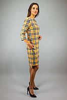 Жіноче плаття клітка Барбері  VCS  1827/704  Жовтий (S-XL)
