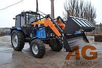 Погрузчик КУН на МТЗ тракторный фронтальный быстросъёмный НТ-1200 АГРИС (с джойстиком) с ковшом 0,8