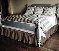 Підзор на ліжко Рюші Модель 2 Порох, фото 1