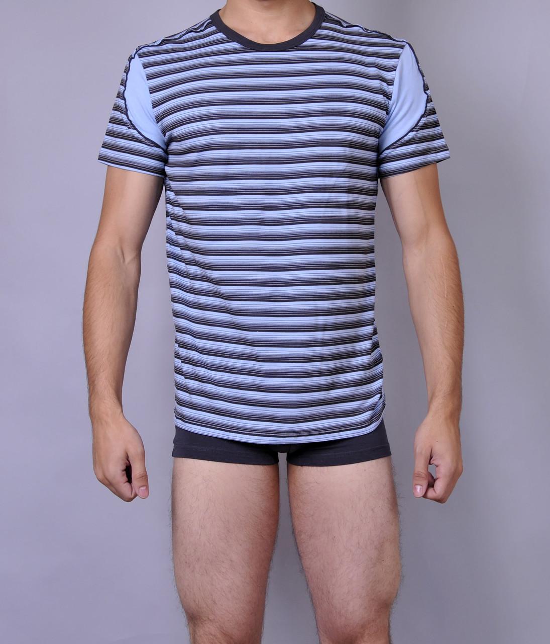 Мужская футболка  C+3 0114 L Полосатый