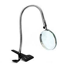 Лупа настольная на прищепке Magnifier 15120, диаметр линзы 100 мм, увеличение 2.5x