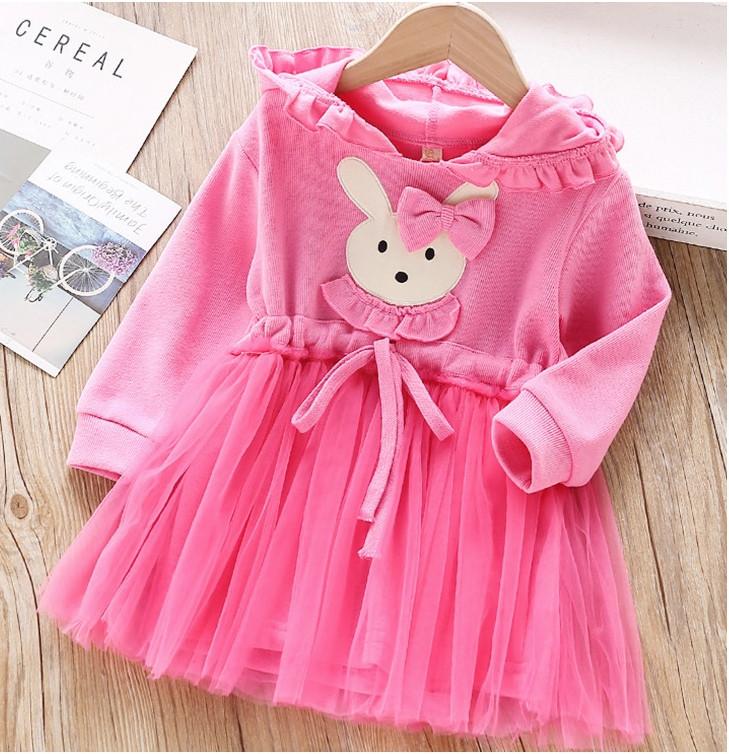 Нарядное платье на девочку  на длинный рукав  2-6 лет  с капюшоном