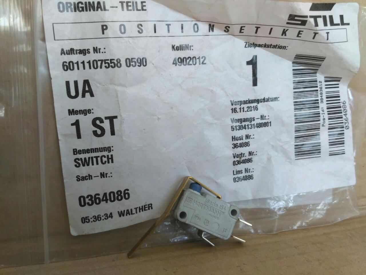 STILL 0364086 датчик стояночного тормоза / датчик стояночного гальма