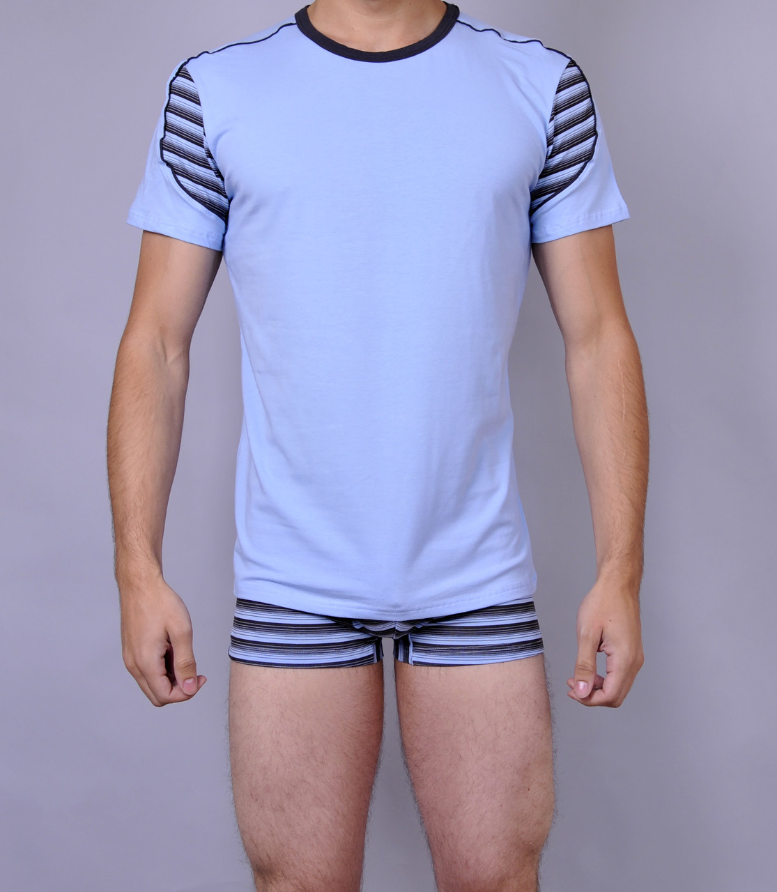 Мужская футболка  C+3 0114 L Голубой