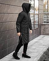 ✅ Мужская зимняя черная куртка пальто Pobedov Champion