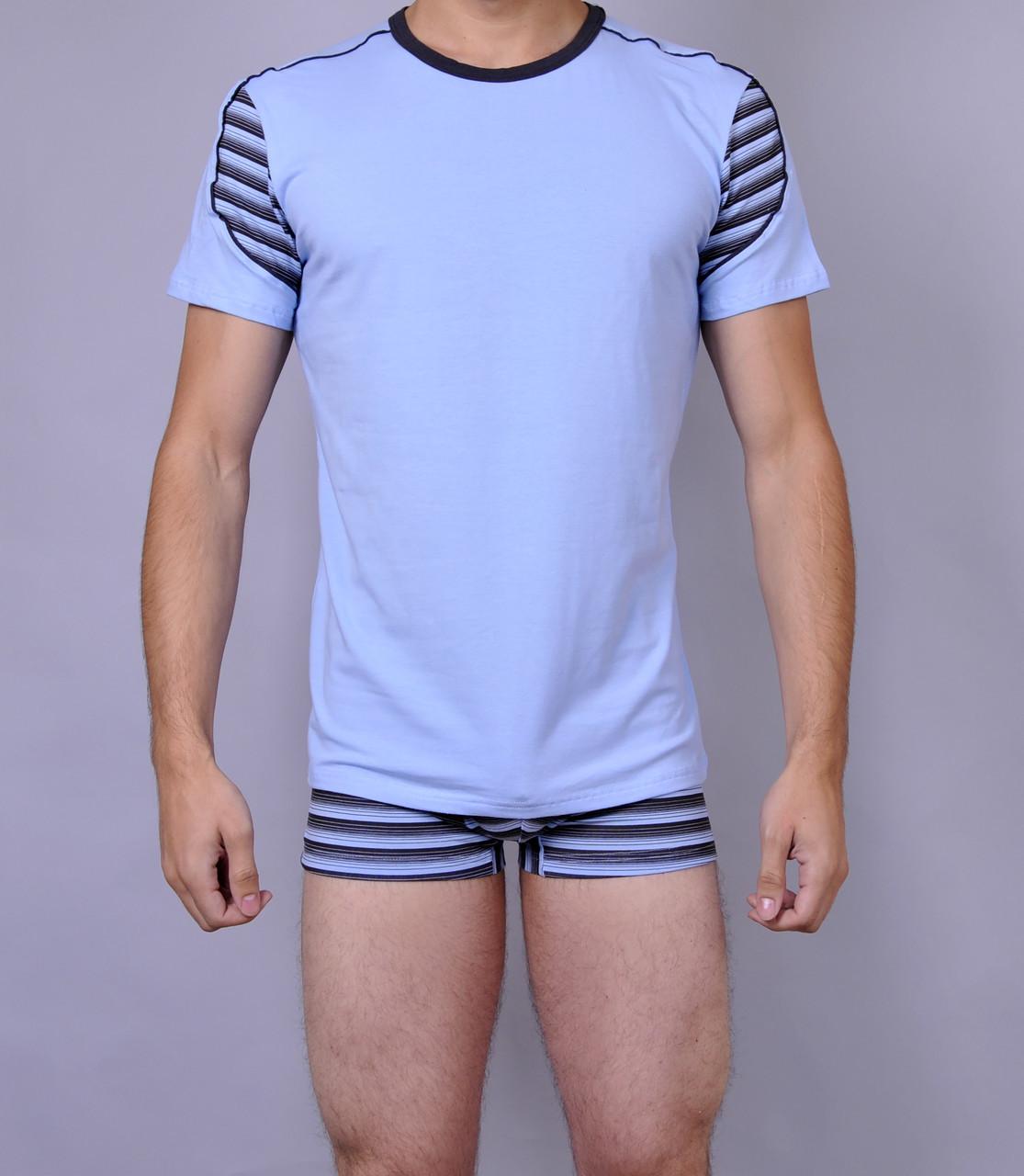 Мужская футболка  C+3 0114 XL Голубой