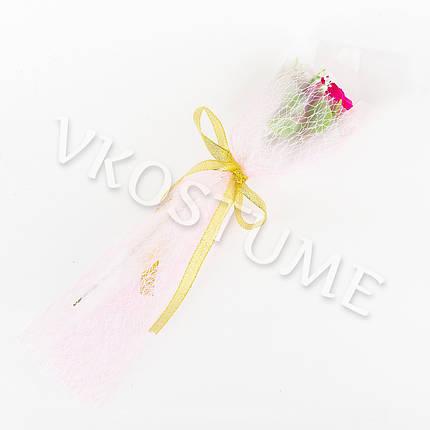 Подарочный букет с малиновой розой из ароматного мыла, фото 2
