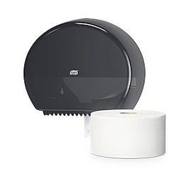 Держатель диспенсер туалетной бумаги в мини рулонах 555008 черный Elevation ТМ TORK ударопрочный