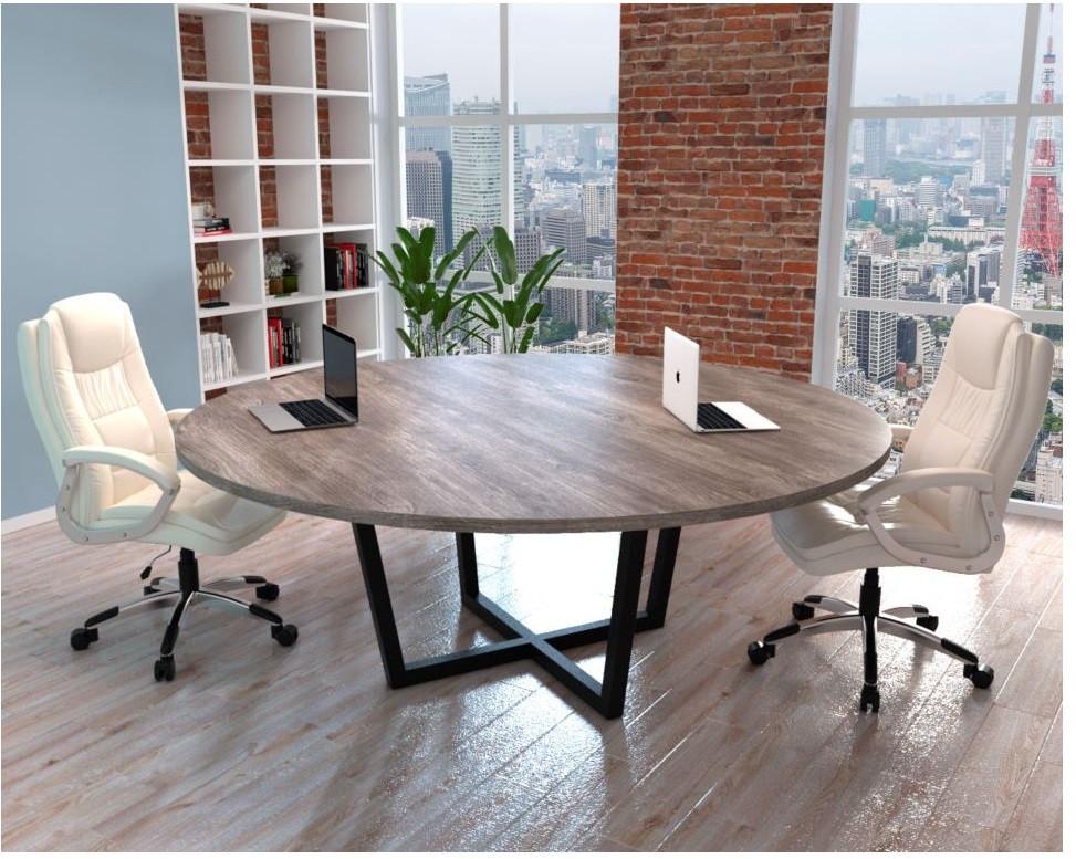 Круглый деревянный стол LOFT из массива натурального дерева