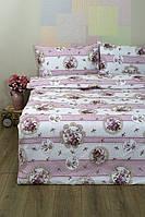 Постельное белье Lotus Ranforce - Vintage лиловое семейное
