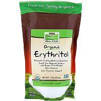 """Органический эритритол NOW Foods, Real Food """"Organic Erythritol"""" (454 г)"""