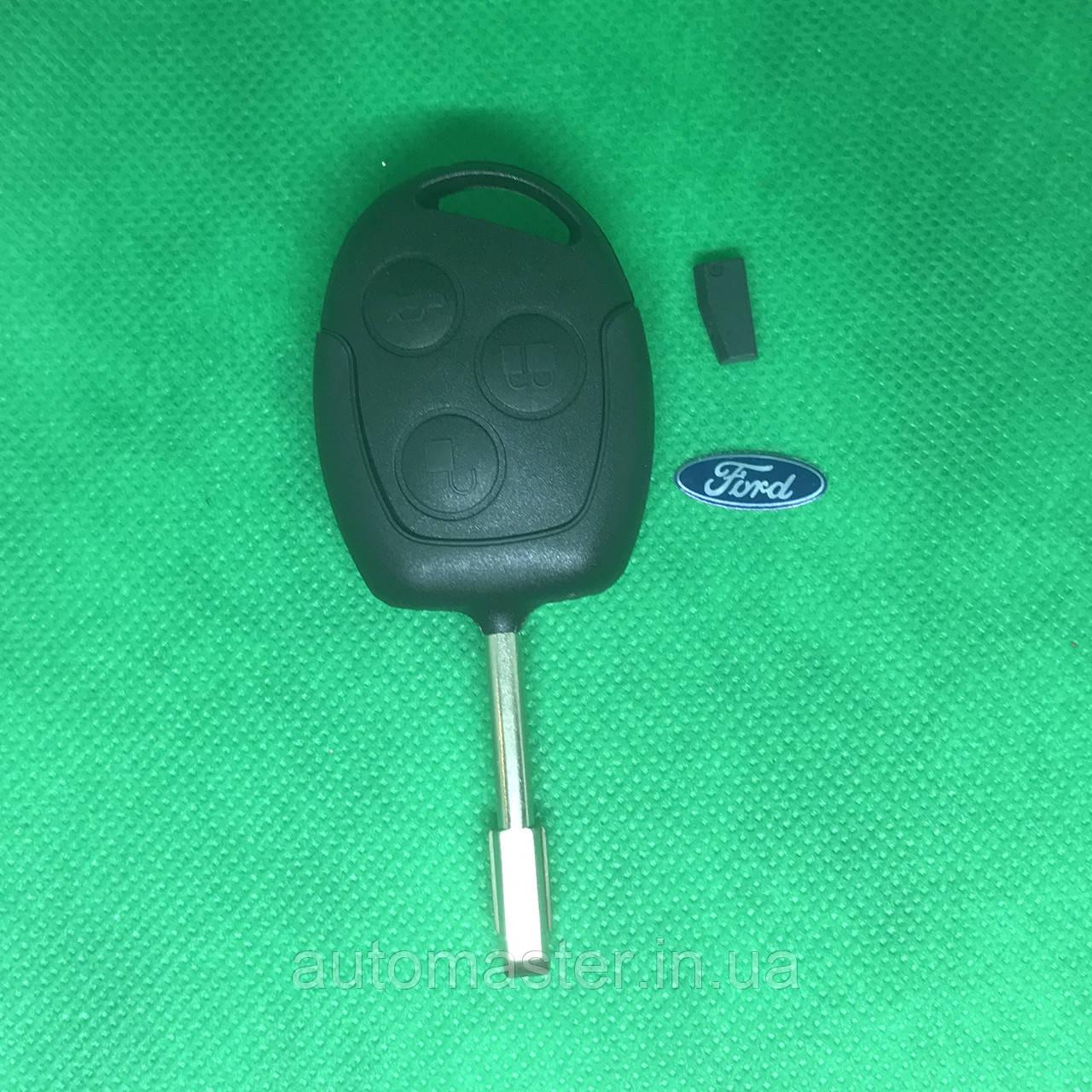 Ключ Ford (Форд) mondeo, focus, transit 3 кнопки с чипом 4D60 433Mhz лезвие FO21