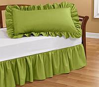 Подзор на кровать Рюши Модель 1 Салатовый  180X200/30