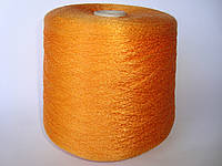 Пряжа оранжевого цвета, вискоза, вес 1.550