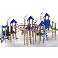 """Игровой комплекс """"Крепость друзей"""" 1,2 м для улицы на детскую площадку, фото 1"""