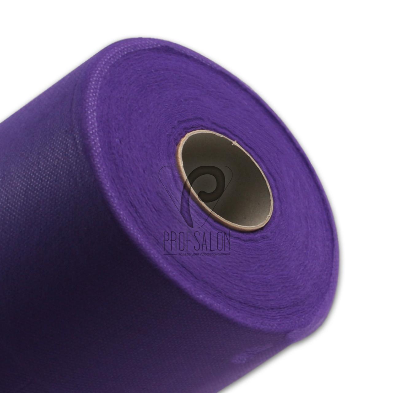Одноразовые простыни в рулонах 0,6х500 метров 20 г/м2, медицинские, для салонов красоты, фиолетовые