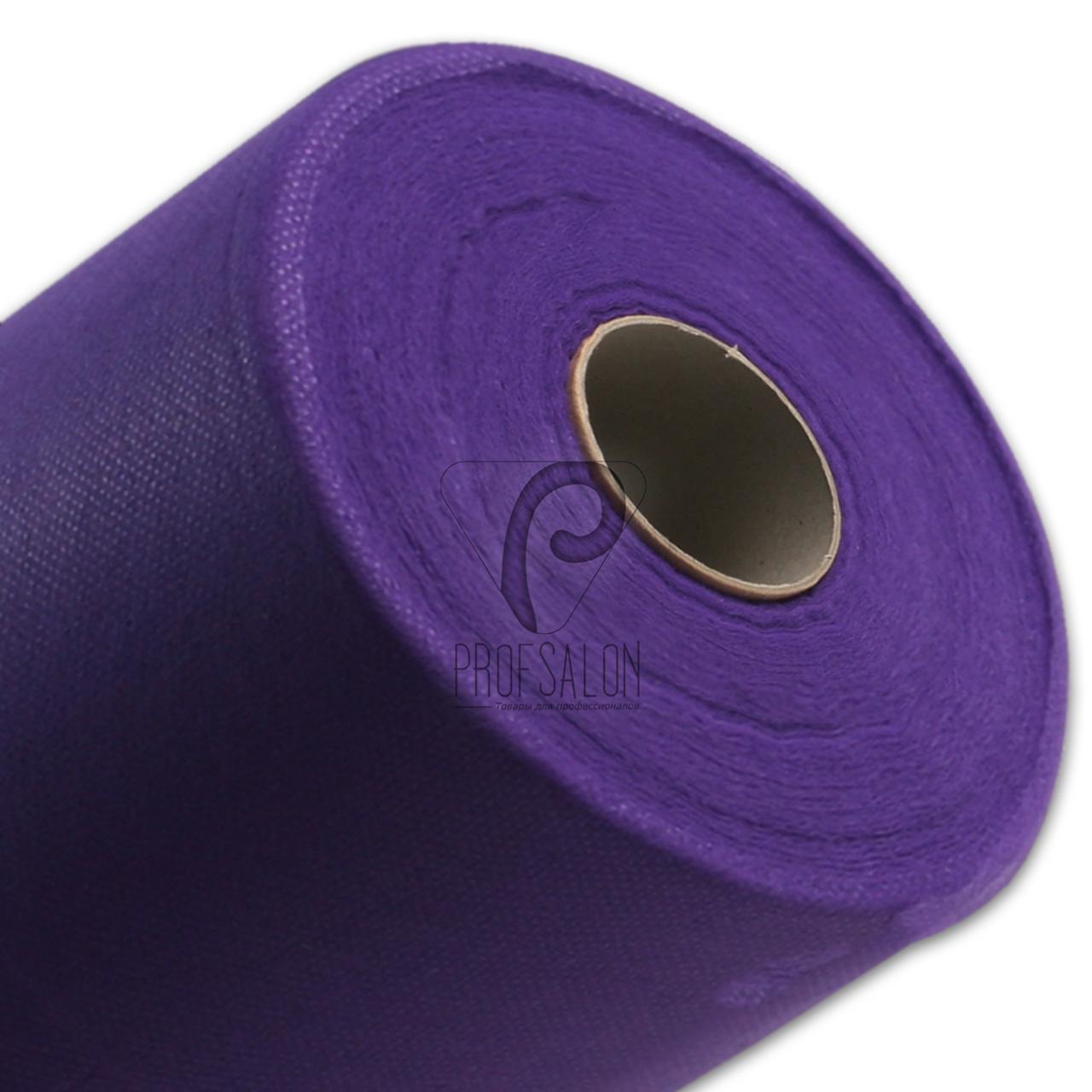 Одноразовые простыни в рулонах 0,8х500 метров 20 г/м2, медицинские, для салонов красоты, фиолетовые