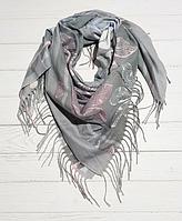 Платок Медина 100*105 см, светло-серый