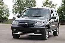 Кенгурятник Niva Chevrolet (02-09)  / ус двойной