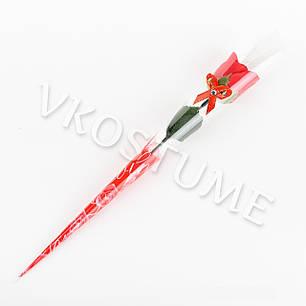 """Подарочный букет с розой из ароматного мыла """"Бантик"""", красный, фото 2"""