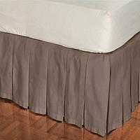 Подзор для кровати Складки Модель 2 Порох 200Х200/30
