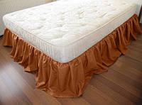 Подзор на кровать Рюши Модель 4 Медовый 200*200/30